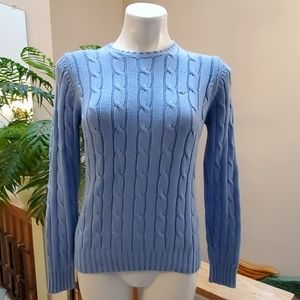 VINEYARD VINES Blue Cable Knit Sweater Medium